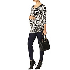 Dorothy Perkins - Maternity khaki animal print t-shirt