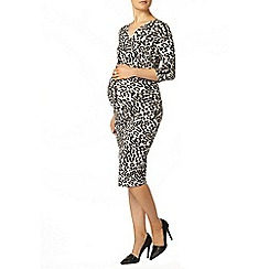Dorothy Perkins - Maternity khaki animal print wrap dress