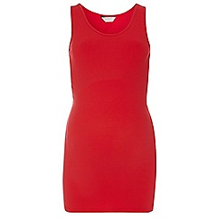 Dorothy Perkins - Maternity red longline ribbed sleeveless vest