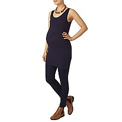 Dorothy Perkins - Maternity navy longline ribbed sleeveless vest