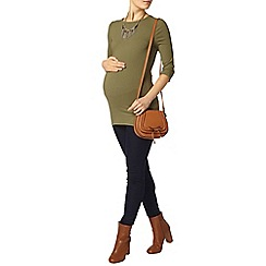 Dorothy Perkins - Maternity khaki longline ribbed top