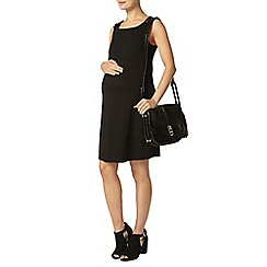 Dorothy Perkins - Maternity black ponte pinafore dress
