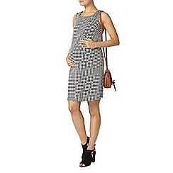 Dorothy Perkins - Maternity black and white geo ponte pinafore dress
