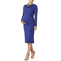 Dorothy Perkins - Maternity cobalt long sleeve drape dress
