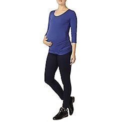 Dorothy Perkins - Maternity blue ruched scoop neck t-shirt