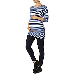 Dorothy Perkins - Maternity ivory and marine stripe top