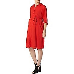 Dorothy Perkins - Maternity red shirt dress