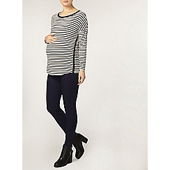 Dorothy Perkins - Maternity black and white stripe top