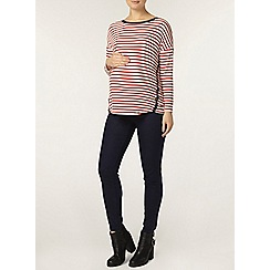 Dorothy Perkins - Maternity red and white stripe top