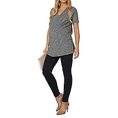 Dorothy Perkins - Maternity black stripe split t-shirt