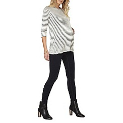 Dorothy Perkins - Maternity ivory and grey striped t-shirt