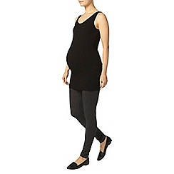 Dorothy Perkins - Maternity charcoal overbump leggings