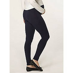Dorothy Perkins - Maternity navy blue overbump leggings