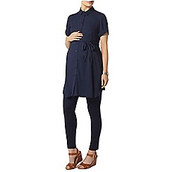 Dorothy Perkins - Maternity navy self-tie tunic