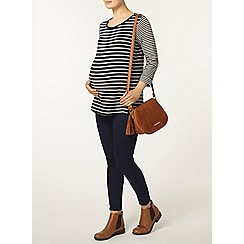Dorothy Perkins - Maternity navy and white stripe jersey knit
