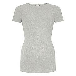 Dorothy Perkins - Maternity grey short sleeve ribbed top