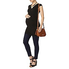Dorothy Perkins - Black maternity cap sleeve top