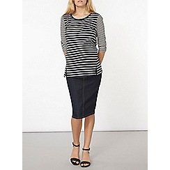 Dorothy Perkins - Maternity indigo pencil skirt