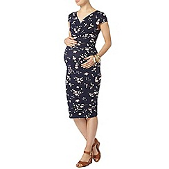 Dorothy Perkins - Maternity navy floral cap sleeves