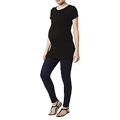 Dorothy Perkins - Maternity black short sleeve ribbed top
