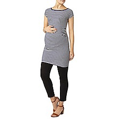 Dorothy Perkins - Maternity navy and white stripe ribbed tunic