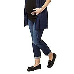 Dorothy Perkins - Maternity mid-wash overbump boyfriend jeans