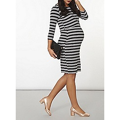 Dorothy Perkins - Maternity monochrome stripe bodycon dress