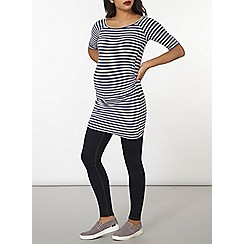 Dorothy Perkins - Maternity blue striped ruched tunic