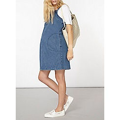 Dorothy Perkins - Maternity denim pinafore dress