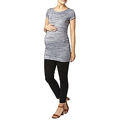 Dorothy Perkins - Maternity navy spacedye ruched t-shirt