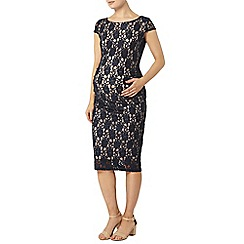 Dorothy Perkins - Maternity navy lace bodycon midi dress