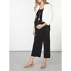 Dorothy Perkins - Maternity black plisse crop trousers