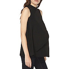 Dorothy Perkins - Maternity black high neck frill top