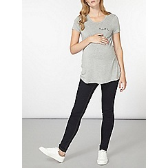 Dorothy Perkins - Maternity grey made with love t-shirt