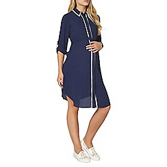 Dorothy Perkins - Maternity navy contrast trim shirt dress