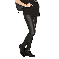 Dorothy Perkins - Maternity black pu overbump superskinny jeans