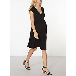 Dorothy Perkins - Maternity black wrap dress