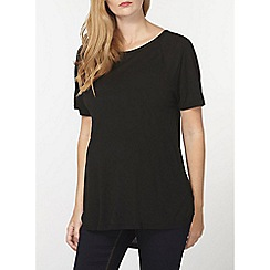 Dorothy Perkins - Maternity black extreme dip back top