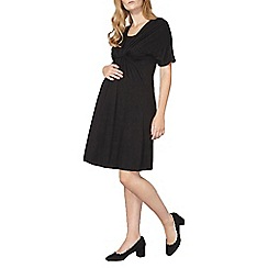Dorothy Perkins - Maternity black nursing knot jersey dress