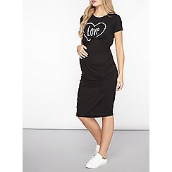 Dorothy Perkins - Maternity black underbump ruched pencil skirt