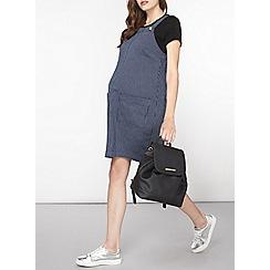 Dorothy Perkins - Maternity blue pinstripe pinny dress