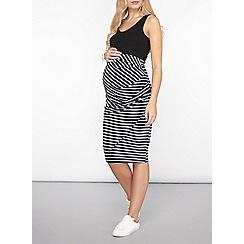 Dorothy Perkins - Maternity navy stripe underbump pencil skirt