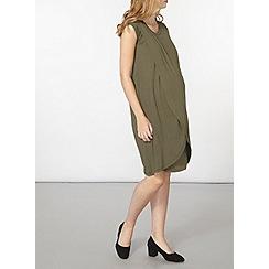Dorothy Perkins - Maternity khaki nursing wrap dress