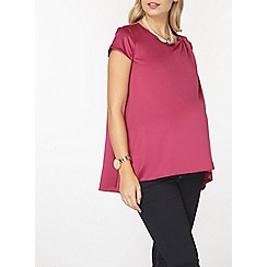 Dorothy Perkins - Maternity nursing fuschia cap sleeve top