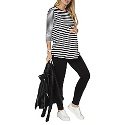 Dorothy Perkins - Maternity black and white stripe sweatshirt
