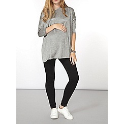 Dorothy Perkins - Maternity grey longline boxy top