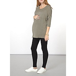 Dorothy Perkins - Maternity khaki longline boxy top