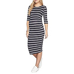 Dorothy Perkins - Maternity navy stripe ruched dress