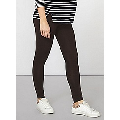 Dorothy Perkins - Maternity chocolate overbump leggings