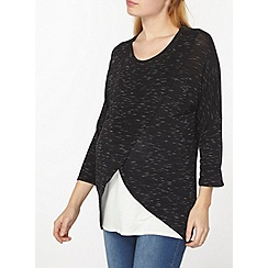 Dorothy Perkins - Maternity nursing charcoal wrap top